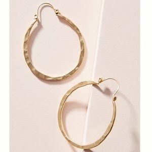 Anthropologie Baylee Oval Hoop Earrings NWT